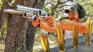 Гигантский револьвер... больше, чем .500 S&W Magnum | Разрушительное ранчо | Перевод Zёбры
