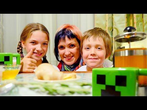Майнкрафт чашки Криперы и имбирный чай. Маша и блоггеры.