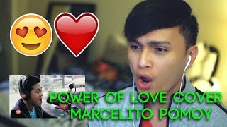 Reaction - Power Of Love Cover - Macelito Pomoy - WHERE DOES THAT VOICE COME FROM??? 😱😱😱