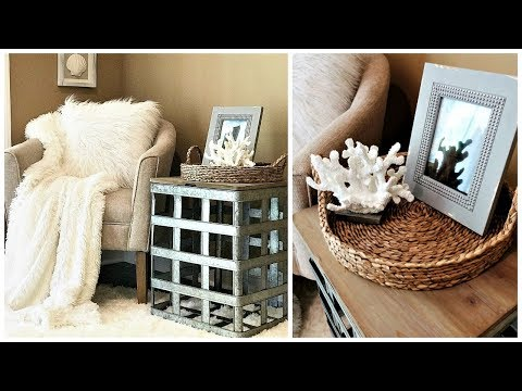 NEW! Coastal FarmHouse Style | How To Create A Cozy Sitting Area In Your Living Room