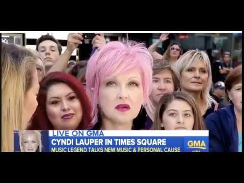 Cyndi Lauper -  Good Morning America 24.08.2017
