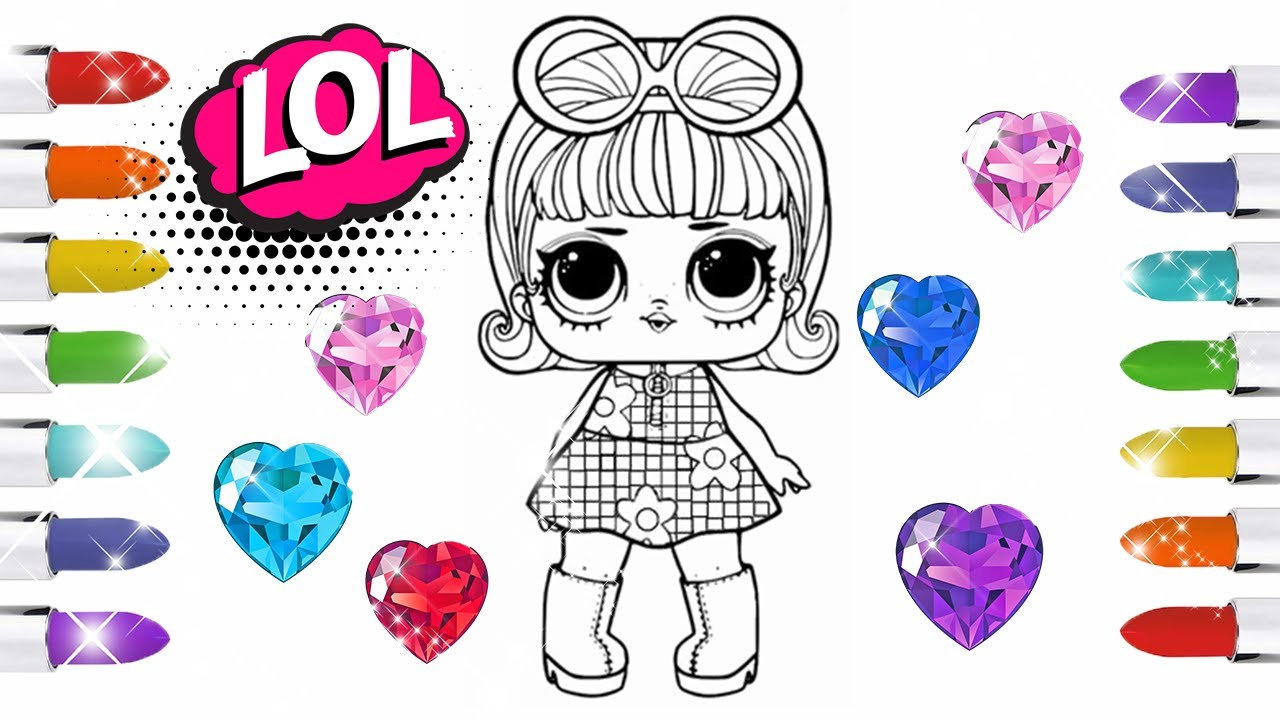 Cara Menggambar Dan Mewarnai LOL Surprise Dolls Coloring Pages Book Tutu Toy
