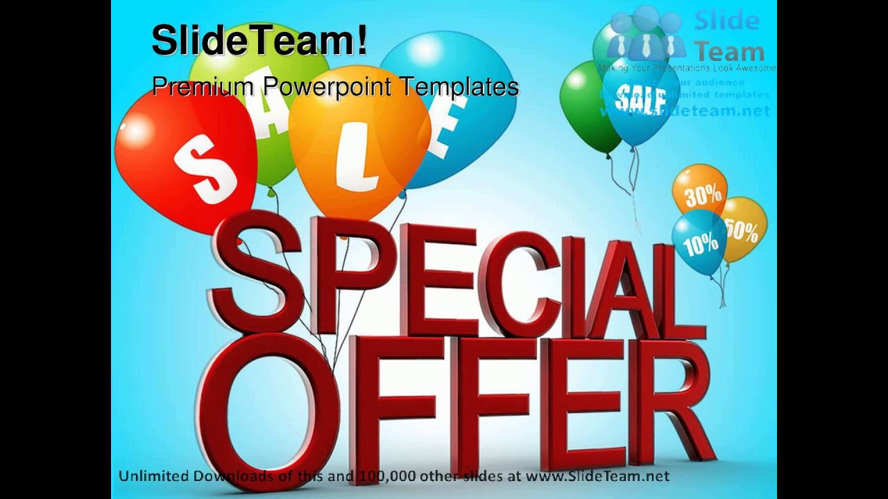 special offer sales powerpoint templates themes and backgrounds, Modern powerpoint
