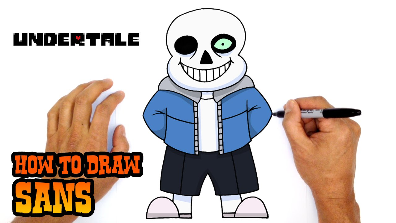 How to Draw Sans | Undertale