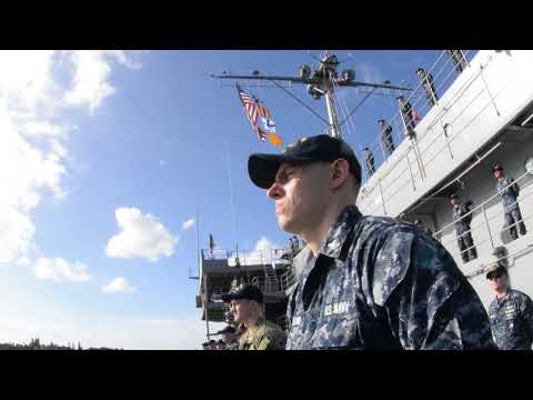 USS Frank Cable (AS 40) Arrives at Joint Base Pearl Harbor-Hickham PEARL HARBOR, HI, US, 01.02.2018