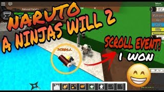 CAPTURE THE SCROLL EVENT!! | A NINJAS WILL 2 | ROBLOX