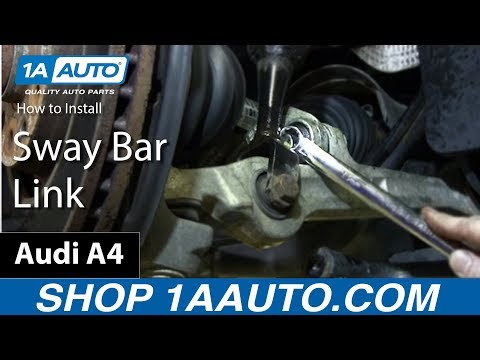 How to Install Replace Sway Bar Link 2002-09 Audi A4
