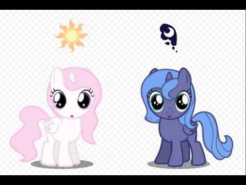 Клип My Little Pony Селестия и Луна-Моя сестра - YouTube