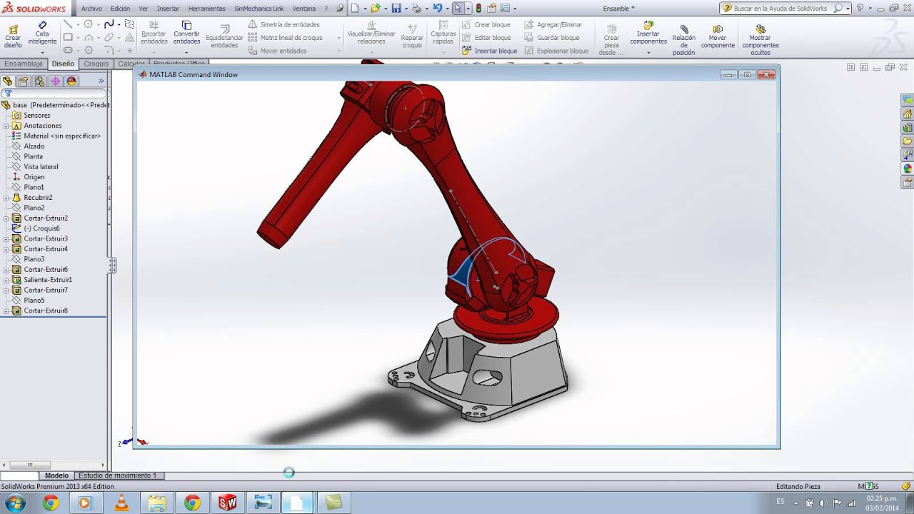 Tutorial para exportar dise o de solidworks a simulink for Design table not working solidworks