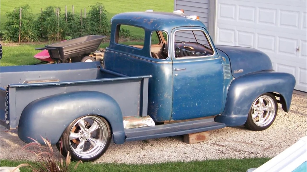 Mike's 1948 chevy truck on an s-10 frame build - YouTube