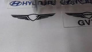 현대자동차 자수엠블럼 명찰 이름표 만들기