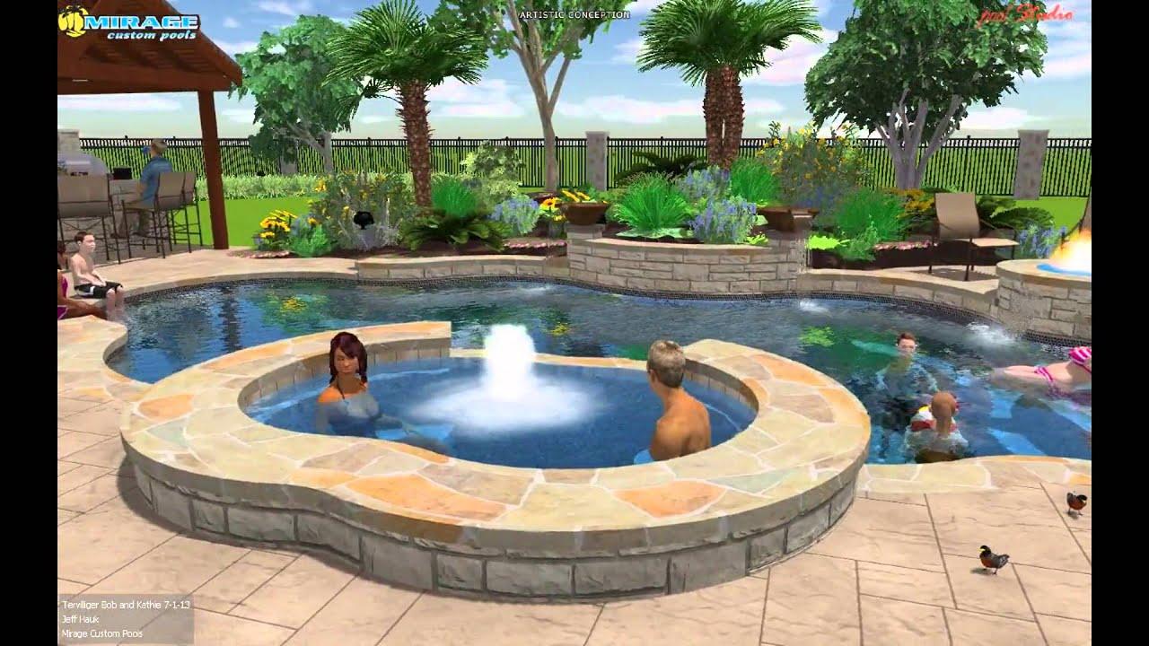 Mirage Custom Pools Tpc Craig Ranch Mckinney Texas