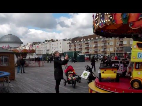 Hastings Pier First Day Open after reconstuction 27th April 2016