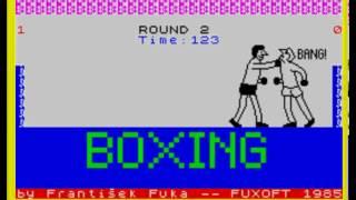 Boxing (by Frantisek Fuka, 1985) (ZX Spectrum)