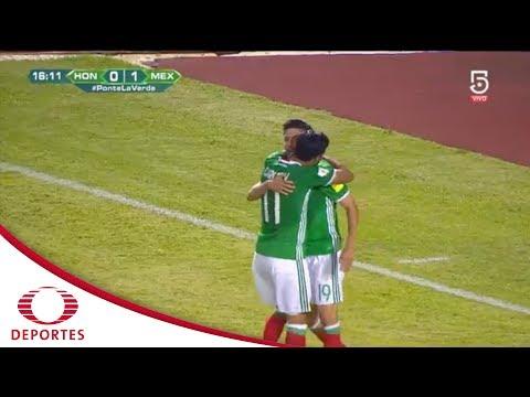 Gol de Oribe Peralta | Honduras 0 - 1 México | Eliminatoria mundialista | Televisa Deportes