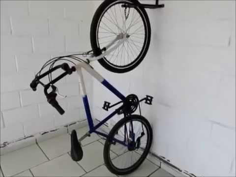 fd82fbe32 Suporte de parede para bicicleta - YouTube