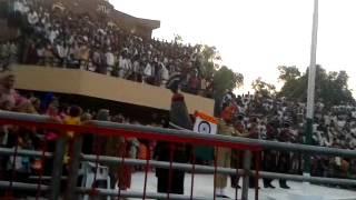 INDIA PAKISTAN flag hoisting at hussaini wala border