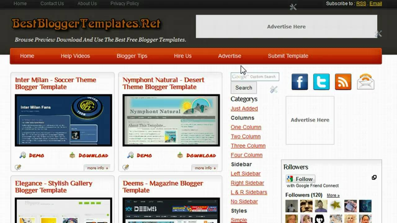 how to change the menu bar links and text on a blogger template