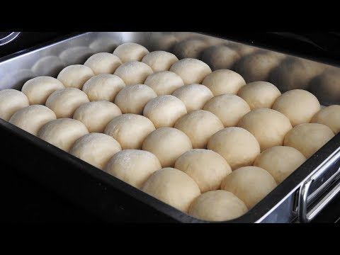 Easy Soft Butter Dinner Rolls | Cold Rise Milk Bread Buns Recipe - ASMR Baking