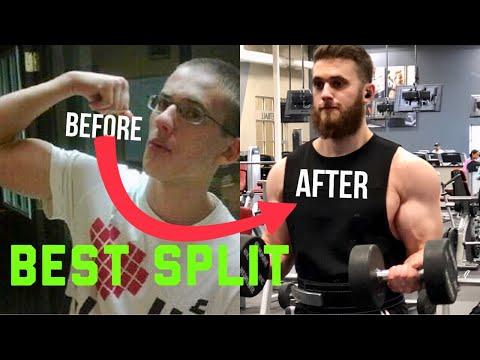 Best Training Split For Gaining Mass (Natural Bodybuilders)