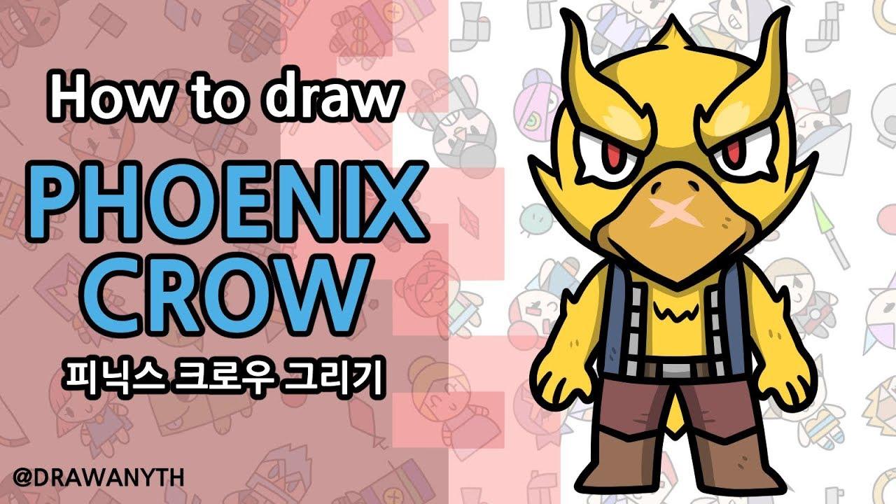 How to draw Phoenix Crow   Brawlstars - YouTube