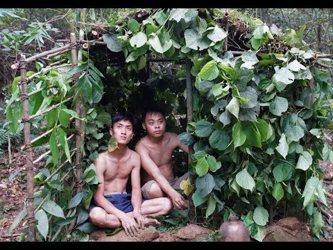Primitive Survival: Build wooden house underground