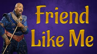 Friend like me Aladdin Backing track karaoke instrumental