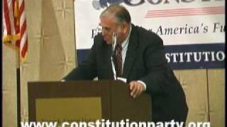 Constitution Party Speaker - Virgil Goode - Part One