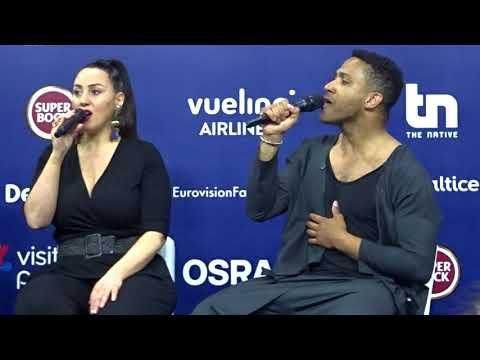 Eurovision 2018 - Conférence de presse de Cesar Sampson (Autriche) - 03/05/2018