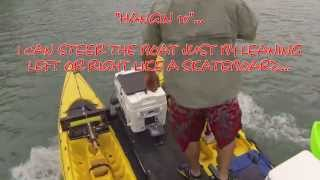 Motor Kayak Catamaran-New Motor Mount Test