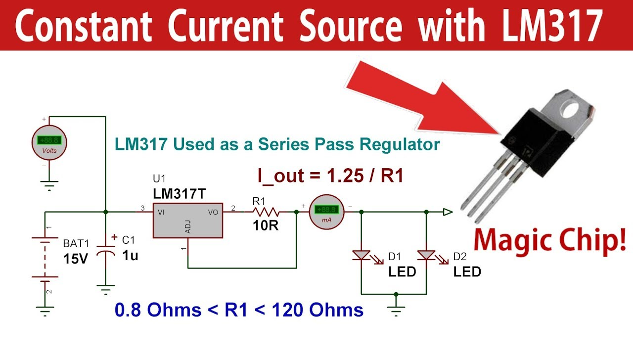 LM317 Constant Current Source Power Supply