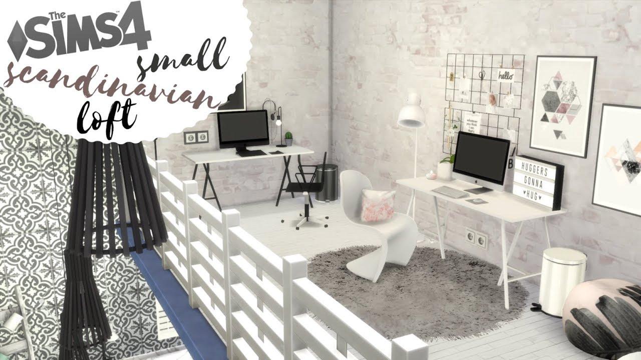 Maly Skandynawski Loft The Sims 4 Speed Build Lofty