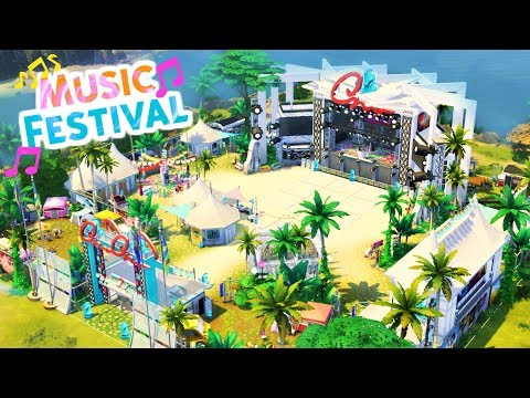 MUSIC FESTIVAL | Sims 4 Speed Build