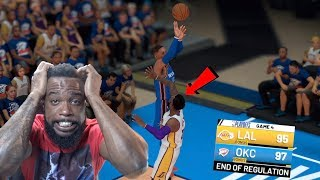 Russell Westbrook IMPOSSIBLE BUZZER BEATER! Lakers vs Thunder Game 4! NBA 2K19 Ep 58