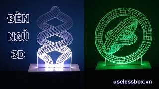 ĐÈN TRANG TRÍ, ĐÈN NGỦ  3D - USB 5V - ĐỒNG GIÁ CÁC MẪU
