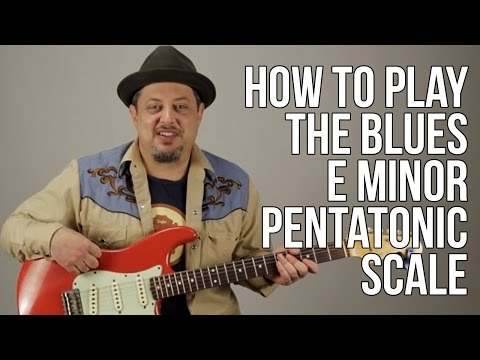 Blues Guitar Lessons -  The First Scale You Should Learn How to Solo - E minor Pentatonic Scale