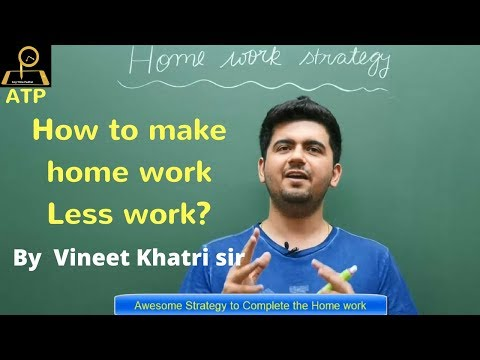 How To Finish Homework Fast ? - By VK Sir