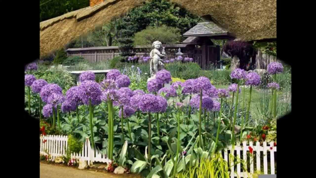 English Cottage Garden Design Decorations Youtube