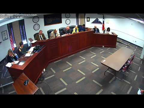 Brazos County Commissioners Court 03-20-18