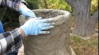 Gartendeko . Pflanzkübel aus Beton selber machen.