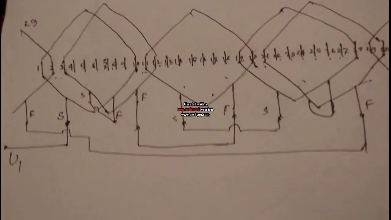 how to make 36 slot three phase motor 4 pole basket