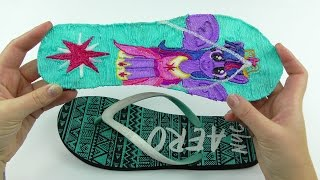 My Little Pony Twilight Sparkle Flip Flops How to Draw My Little Pony Sandals with 3D Pen
