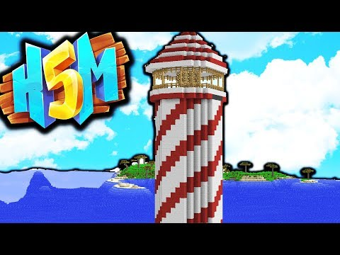 MAKING OUR LIGHTHOUSE! - HOW TO MINECRAFT S5 #4