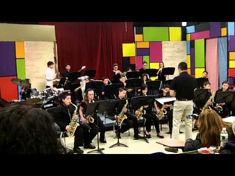 """Pink Panther"" Commack Middle School Jazz Band, Day of Jazz, 2014"