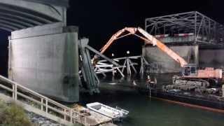 Demolition On The Skagit River Bridge