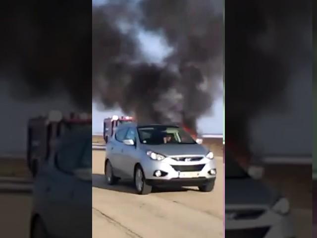 Кола се запали в движение по пътя Борован- Бяла Слатина