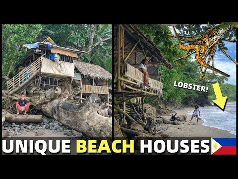 UNIQUE FILIPINO BEACH HOUSE – Life In Davao Province – HIDDEN COVE WITH LOBSTER CAGES