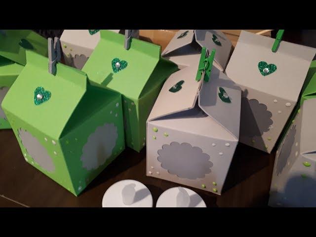 Laterne aus Milchkartonverpackung
