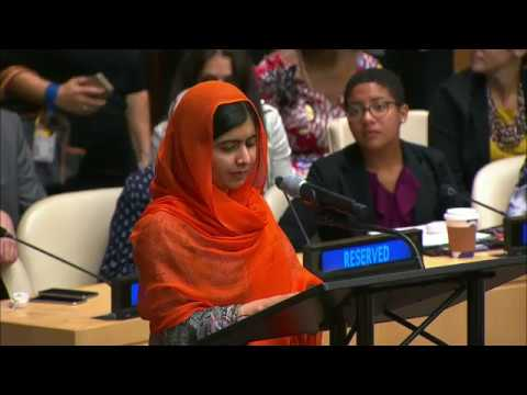 "Malala Yousafzai (UN Messenger of Peace) on  ""Financing the Future: Education 2030"""