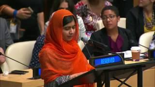 Malala Yousafzai (UN Messenger of Peace) on